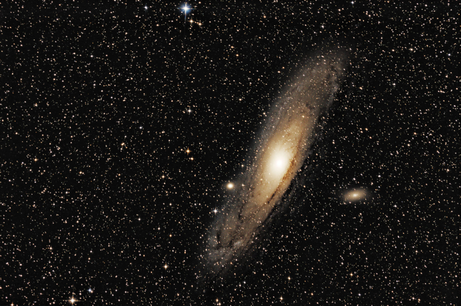 My first real photo of Andromeda