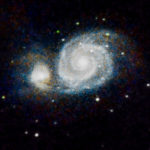Whirlpool Galaxy (M51) Subs: 18 x 1 min (ISO 400) Subs: 97 x 30 sek (ISO 1600) Total: 66:30 min